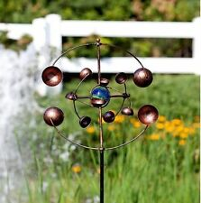 Kinetic Garden Wind Spinner Metal Yard Decor Windmill Outdoor Spinners Copper 48