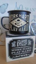 The Dapper Chap 'Work Hard Play Hard' Steel Mug