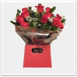 FRESH FLOWERS Delivered UK Luxury Red Rose Bouquet Free Flower Delivery