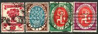 Germany 1919 National Assembly set used SG107/108/109/110 (4)