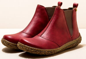 El Naturalista N786T vegan red ankle boots