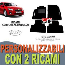 PER CHEVROLET CRUZE TAPPETI PER AUTO MOQUETTE E FONDO GOMMA + 2 RICAMI EASY