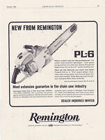 MAGAZINE AD #A1-096 - 1965 REMINGTON CHAIN SAW - PL-6