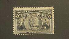 U.S.  245  Beautiful  Used  $5  Columbian  UT 96