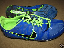 Super Nike Racing Spring royal blue + green Zoom Rival track spikes - mens 11.5