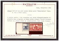 ITALIA ITALY MNH 1945 Democratica Definitives 23v    s31931   expertize Raybaudy