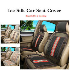 2PCS New Summer Cooling Ice Silk Car Seat Cover Comfortable Front Seat Mat Cool
