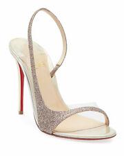 Christian Louboutin Optisling 100 Glitter & PVC Sandal, Brand new, Sz37, Ori$795
