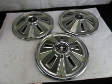 1966 Vintage 14 Hubcaps Ford Mustang Wheel Cover Center Cap Lot Of 3