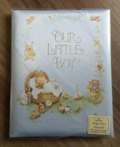 "New Old Stock Vintage Hallmark ""Our Little Boy"" Baby Album Satin Keepsake Book"