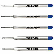 5 x Quality Ballpoint Pen Refills in Medium Blue Ink. Fits Parker Ballpoint Too