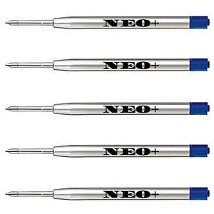 5 x Quality Ballpoint Pen Refills in Medium Blue Ink. Fits Parker Ballpoint Too