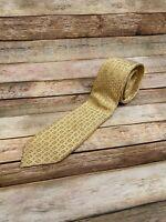 Donald J Trump Gold Geometric Tie Necktie 100% Silk Casual President Business