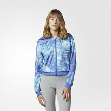 NEW Women's Adidas Ocean Elements Track Jacket Size: Medium Color: Blue