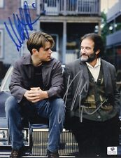 Good Will Hunting Signed 8x10 Photo - Robin Williams/Matt Damon-Global Authentic