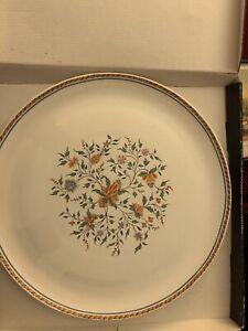 Vintage Large Plate Gien Sainfoin France Garanti In Original Box