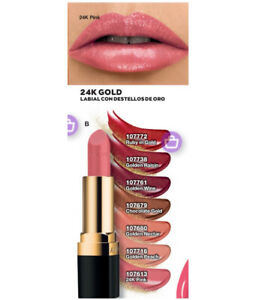 Avon 24K Gold Lipstick Golden Peach Shimmer