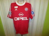 "FC Bayern München Adidas Champions League Sieger Trikot 2001 ""OPEL"" + Nr.5 Gr.L"