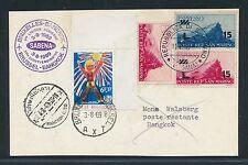 96728) Belgien SABENA FF Brüssel - Bangkok 3.8.69, Karte ab San Marino RR!