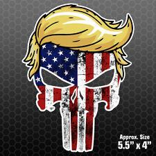 Trump Punisher Usa Flag Sticker Car Truck Vinyl Decal Window Hair Maga Pl1014