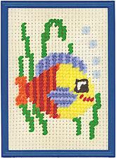 Cross Stitch Kit ~ M.C.G. Beginnin' Stitchin' Tropical Swimming Fish #15206