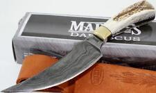 Marbles Knives Damascus Full Tang Upswept Stag Skinner Hunting Skinning Knife