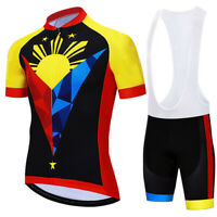 Philippine Cycling Jersey Bib Short Bicycle Bike Motocross Shirt Ride Clothing