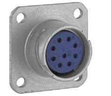 Amphenol 165-16 (9109/10-818002-02S) Connector 9 Pin Male Square Flange