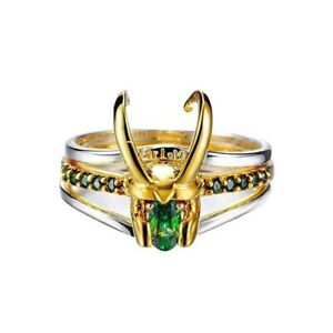 Avengers Superhero Thor Loki Helmet Pack of 3 Stacking Unisex Women Men Jewelry