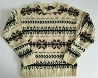 Woolrich Mens Pullover Sweater Fair Isle 100% Wool Size XL Vintage