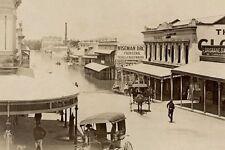 BRISBANE Albert Street in flood 1893 modern Digital Photo Postcard