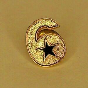 Dallas Cowboys #6 Donovan Wilson Pin Lapel Hat Pin Tie Tack Pinback Gold Tone