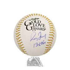 Greg Maddux 18x GG Autographed Official Gold Glove Award Baseball - BAS COA