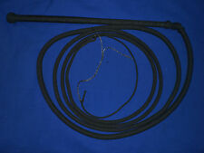 NYLON stock whip 12 ft bullwhip whips bullwhips BLACK stockwhip stockwhips