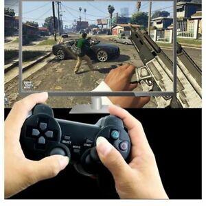 Pack 2 manettes noir PS3 Playstation 3 Sans fil Vibration Jeu Neuve Télécommande