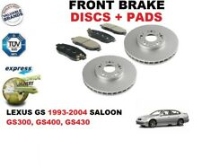 FOR LEXUS GS300 3.0 GS400 4.0 GS430 4.3 FRONT BRAKE DISCS SET + BRAKE PADS KIT