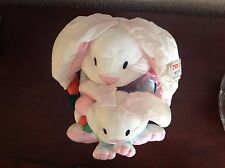 International Silver Co 1992 Paracutes Easter Bunny & Baby In Overalls