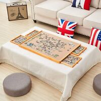 "Wooden Jigsaw Puzzle Table Board Storage Table Tray Puzzle For Adult Kid 29""×21"""