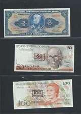 Brésil  Lot de 3 billets différents  en état NEUF Lot Numéro 3