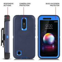 For LG K10 2018 Clip Case With Kickstand Shockproof Rugged Hybrid Cover