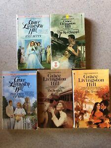 5 Grace Livingston Hill Books written by her in 1919 & 1923