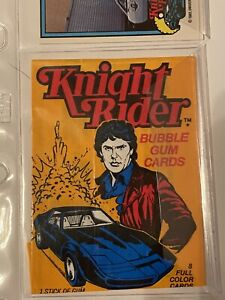 """1983 Donruss """"Knight Rider"""" 55 Trading Card Complete Set with Wrapper"""