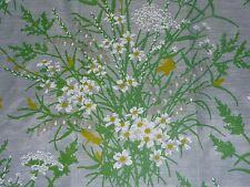 Pr Vtg Mid Century Crisp Sheer Daisy Daffodil Curtains 60W x 63L JC Penney