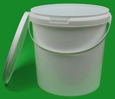 10 Stück 10 Liter Eimer mit Deckel weiß leere Kunststoffeimer Plasteeimer NEU