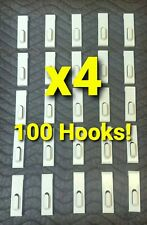 100 PCS WHITE Gridwall UTILITY Hook Picture Hanger Grid Panel Display FREE SHIP!
