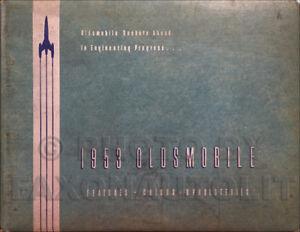 1953 Olds Color Upholstery Dealer Album Manual Deluxe 88 Super 88 98 Oldsmobile