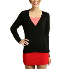 Jumper Bolero Apparel Cashmere Womens Warm Winter Sweater Cardigan UK Sz 6-18 Black 14