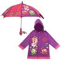 Shopkins Character Slicker and Umbrella Rainwear Set, Little Girls, Age 2-7