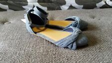 New Toddler Girl Old Navy Blue Chambray Ankle-Strap Ballet Flats Size 9
