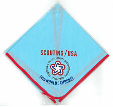 1975 World Scout Jamboree USA BOY SCOUTS OF AMERICA BSA CONTINGENT NECKERCHIEF